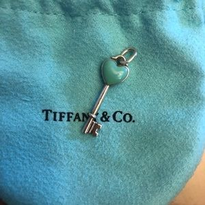 Tiffany & Co. Jewelry - Tiffany & Co Heart Key Pendant Turquoise